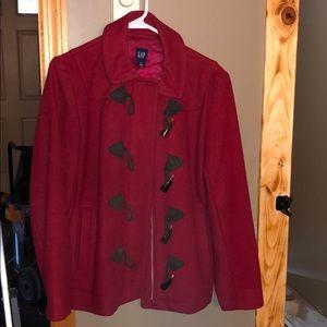 GAP Red wool Pea coat